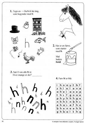 Vi arbejder med alfabetet side 38-2